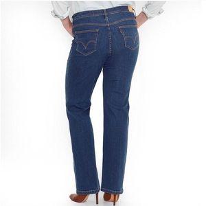 Levi's 580 Bootcut Size 16W Dark Wash Hi Rise Jean